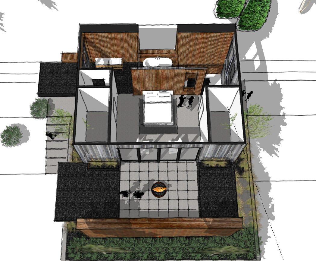 Minimalist cabin petoskey architect
