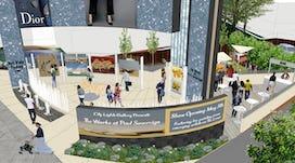 Art show plaza aerial