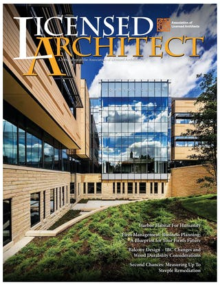 Licensed architect magazine fall 2019 cover