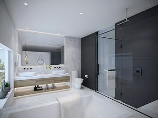 Bathroom black continous
