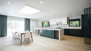 Isoideas feifei feng house design green kitchen