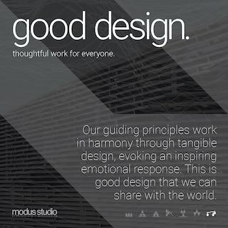 08 modus studio guiding principles good design