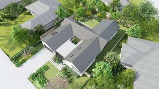 Iso ideas brookglen house aerial