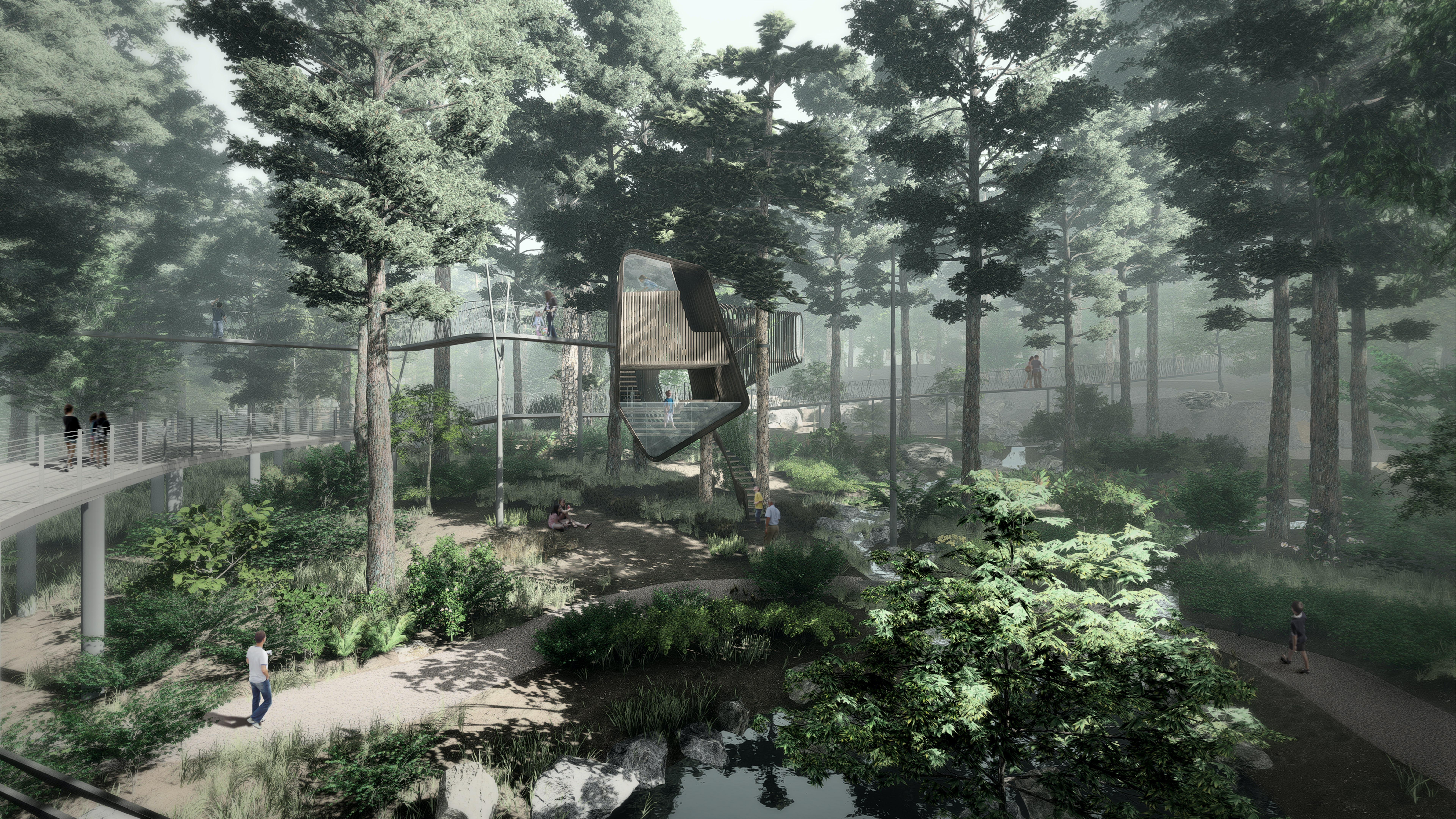 Treehouse exterior rendering 04