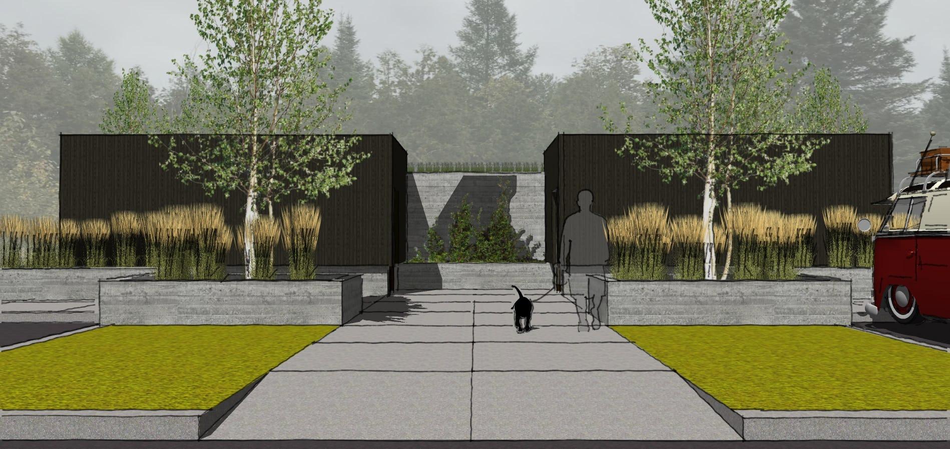 Northern michigan modern architecture campground emmet county architect
