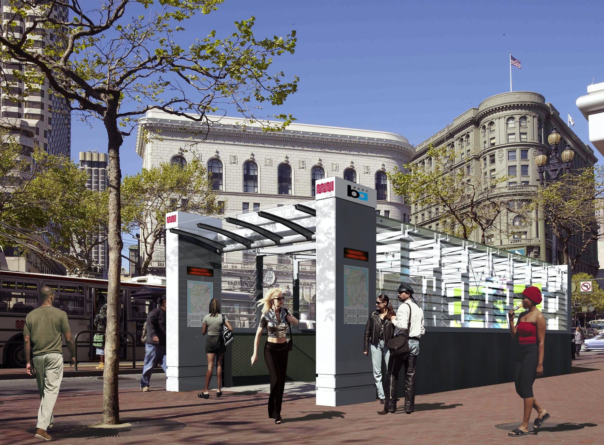 Bart entrance san francisco ian birchall associates for Design agency san francisco