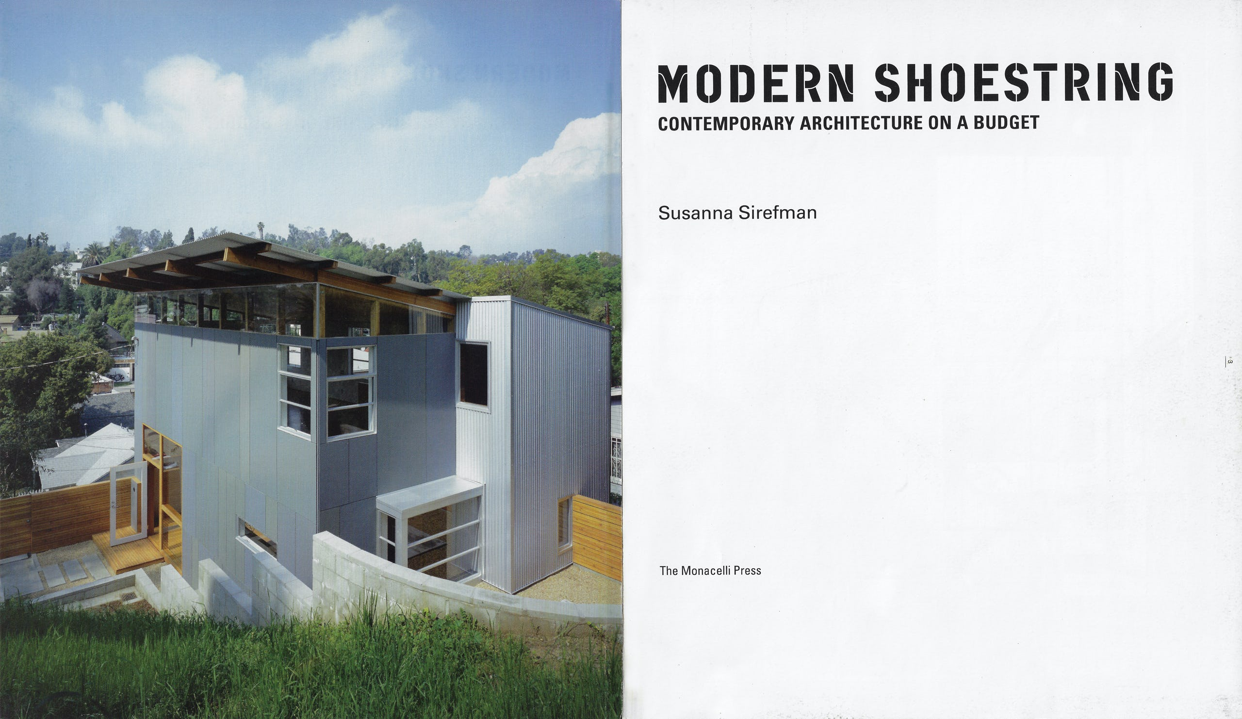 Modern shoestring title page