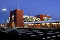 West haven station exterior dusk 1
