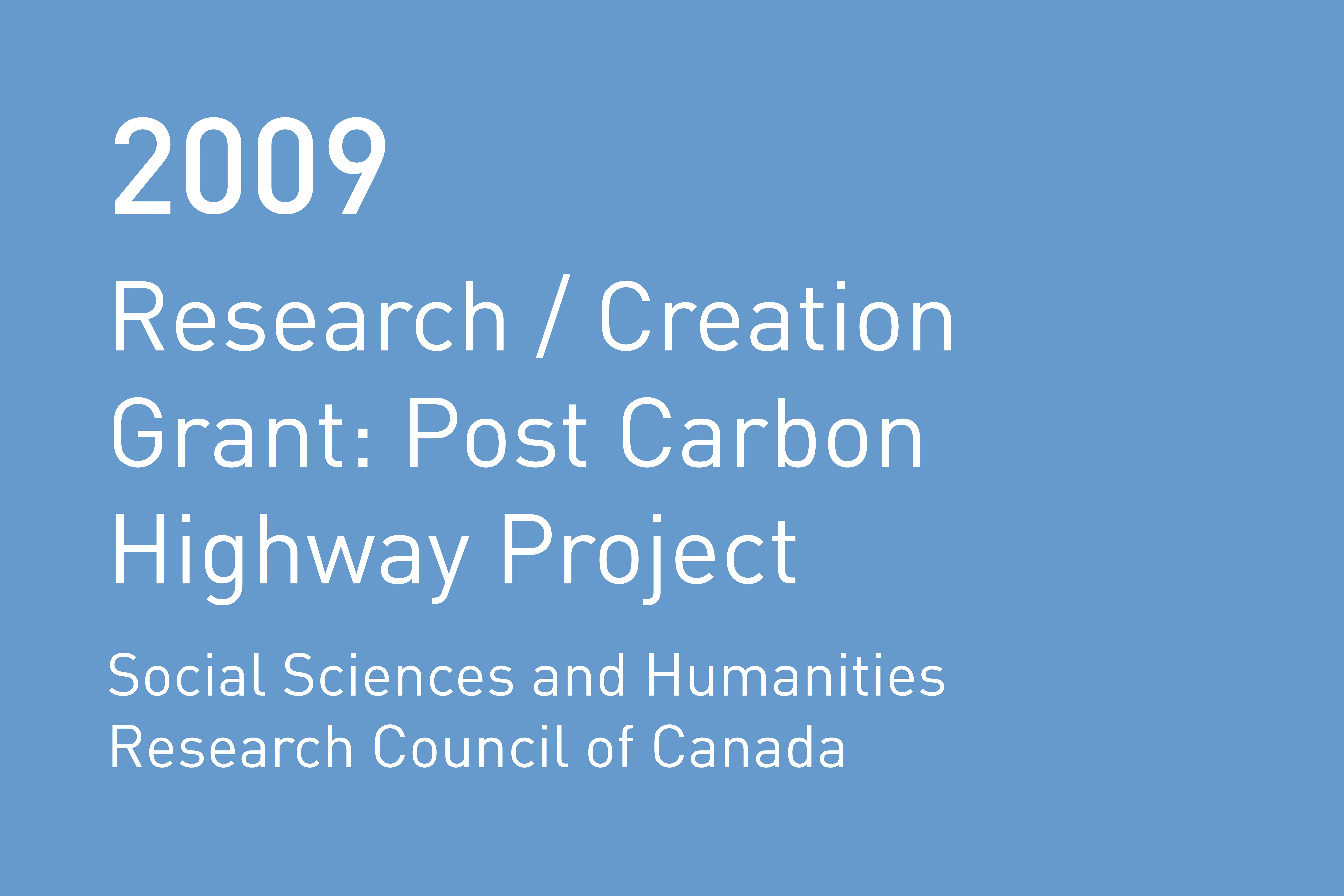 Rvtr 2009 research creation grant