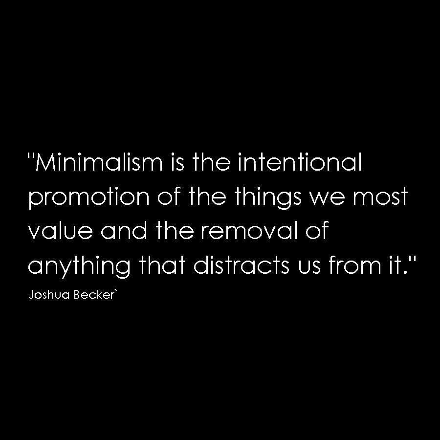 Becker quote minimalism architecture simple design