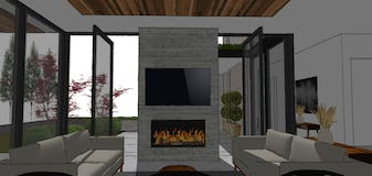 Modern living room design harbor springs