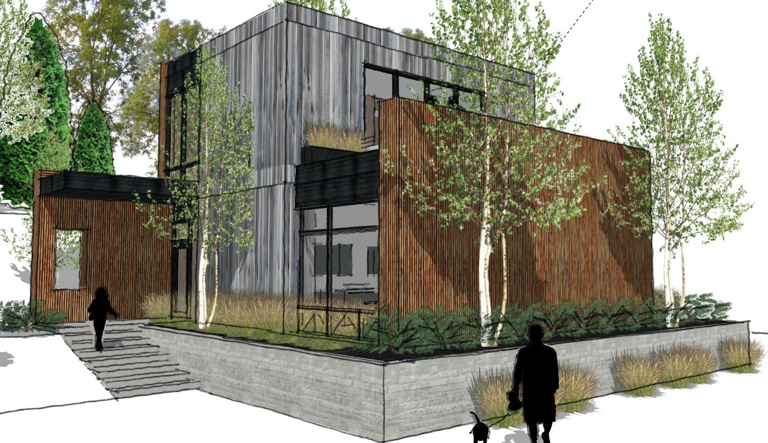 Modern cabin petoskey architecture