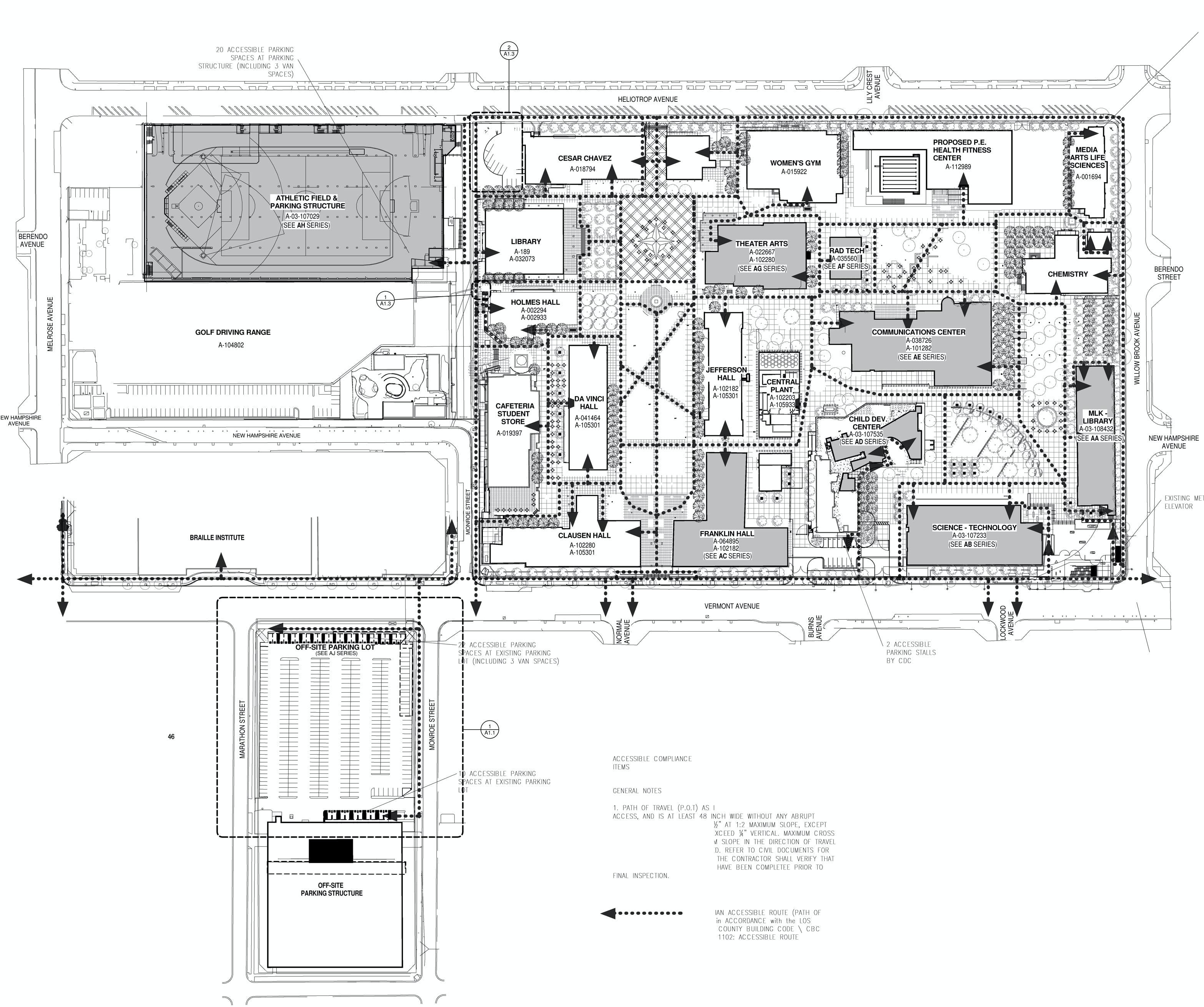 Laccd site plan