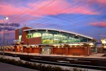 West haven station exterior dusk 3
