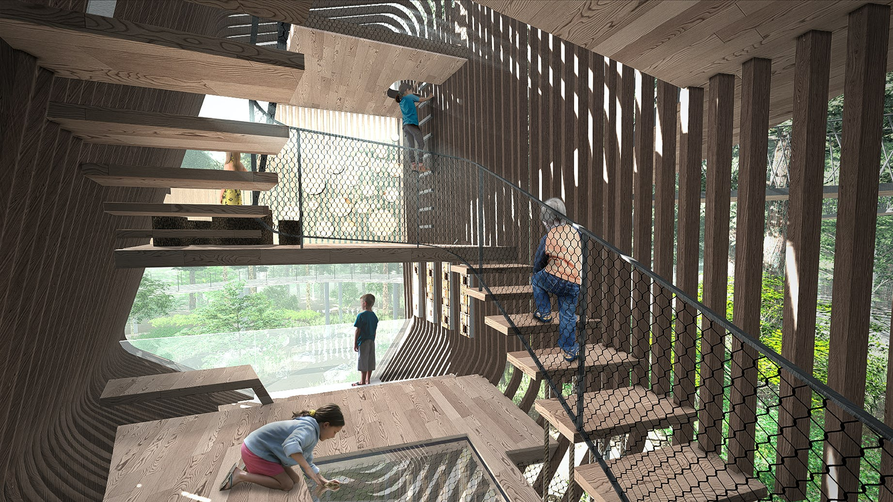 Treehouse interior rendering 01