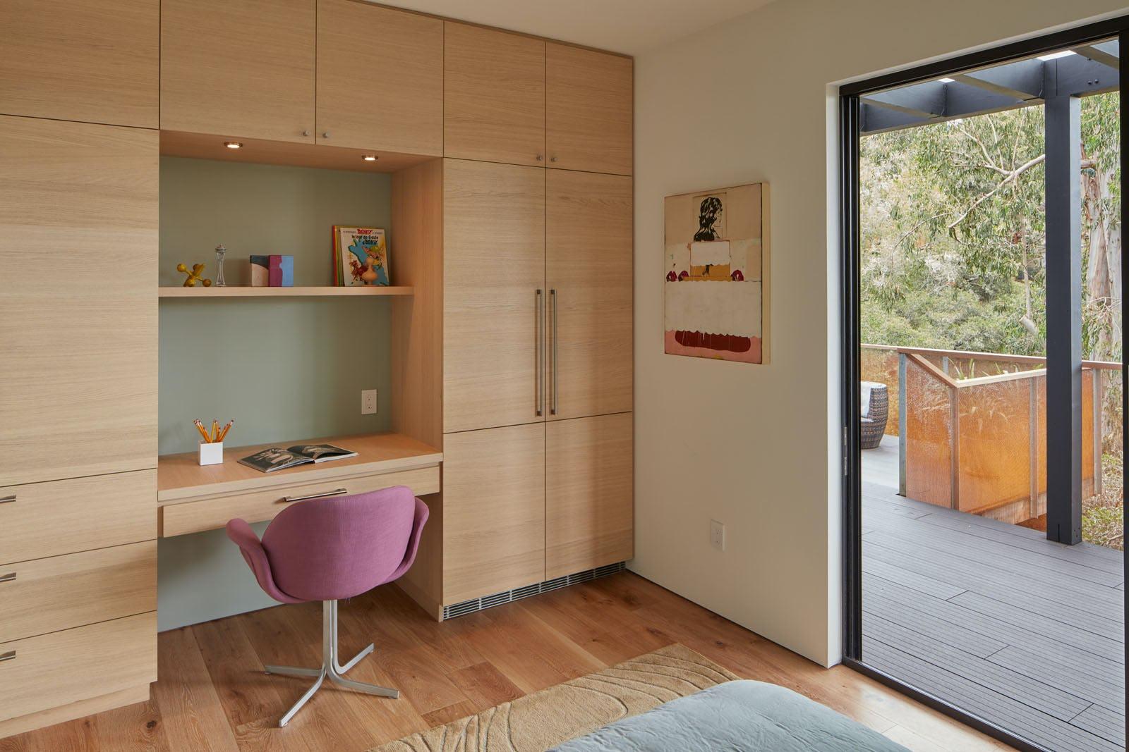 Builtform construction 441tamresidence desk doorway modern wood smaller