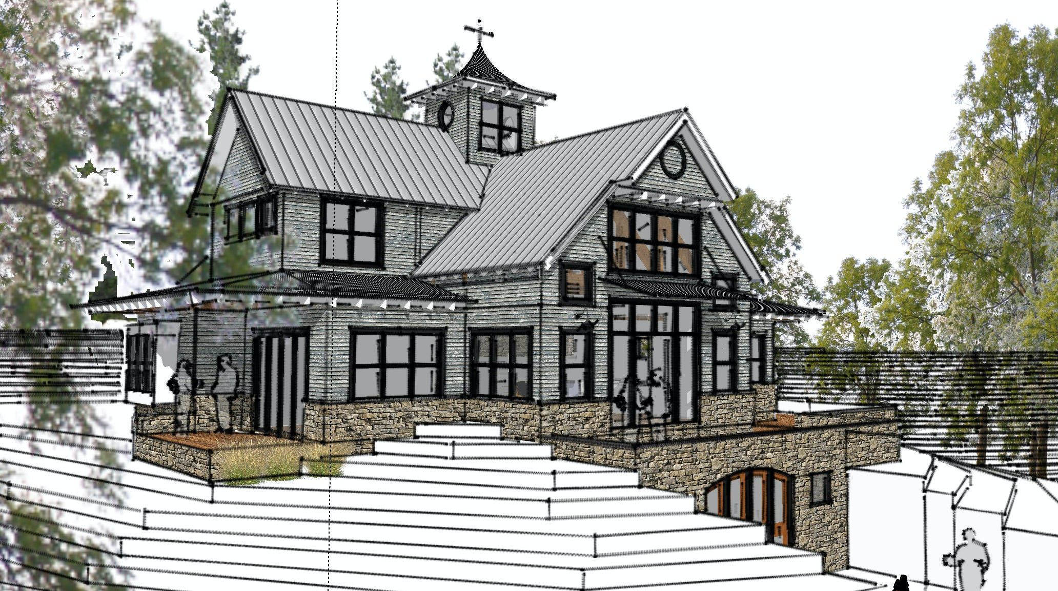 Modern  farmhouse harbor springs architect