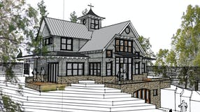 Modern  farmhouse harbor springs architect