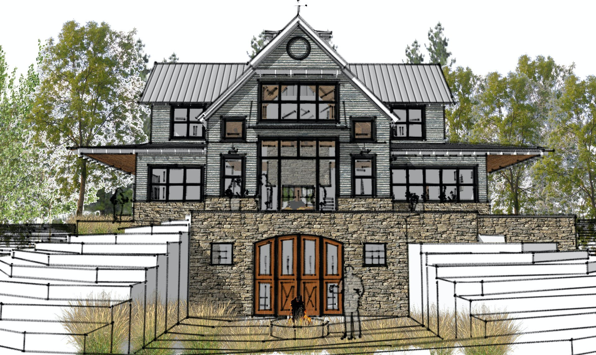 Modern  farmhouse northern michigan architect