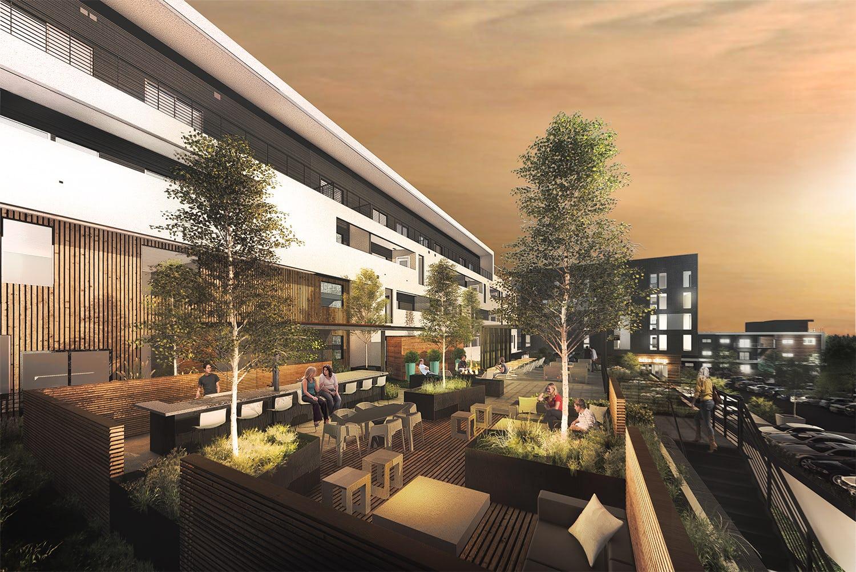 Club rooftop garden