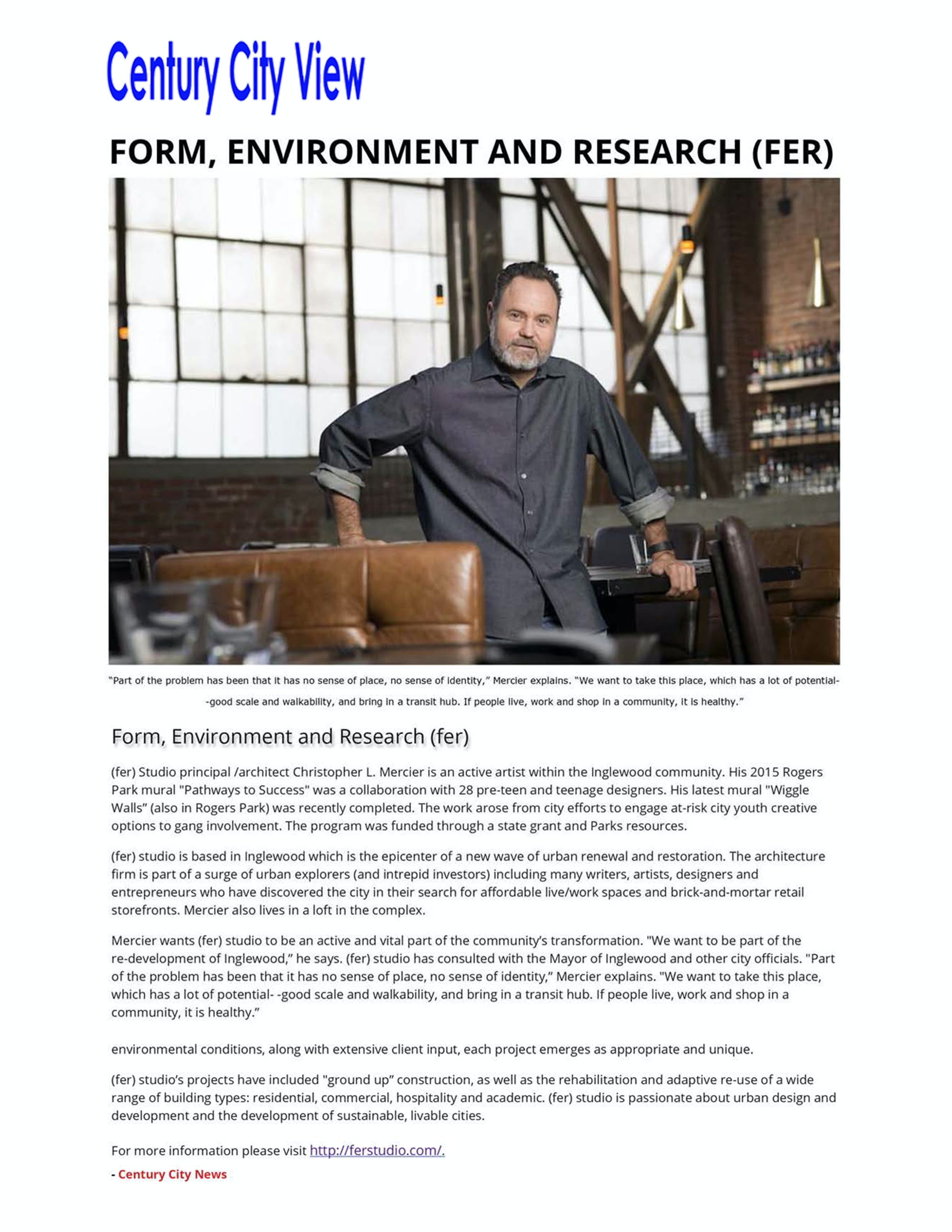 Form environment and research fer