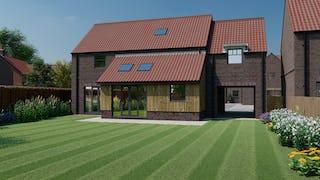 Plot 5 rear hayloft barn