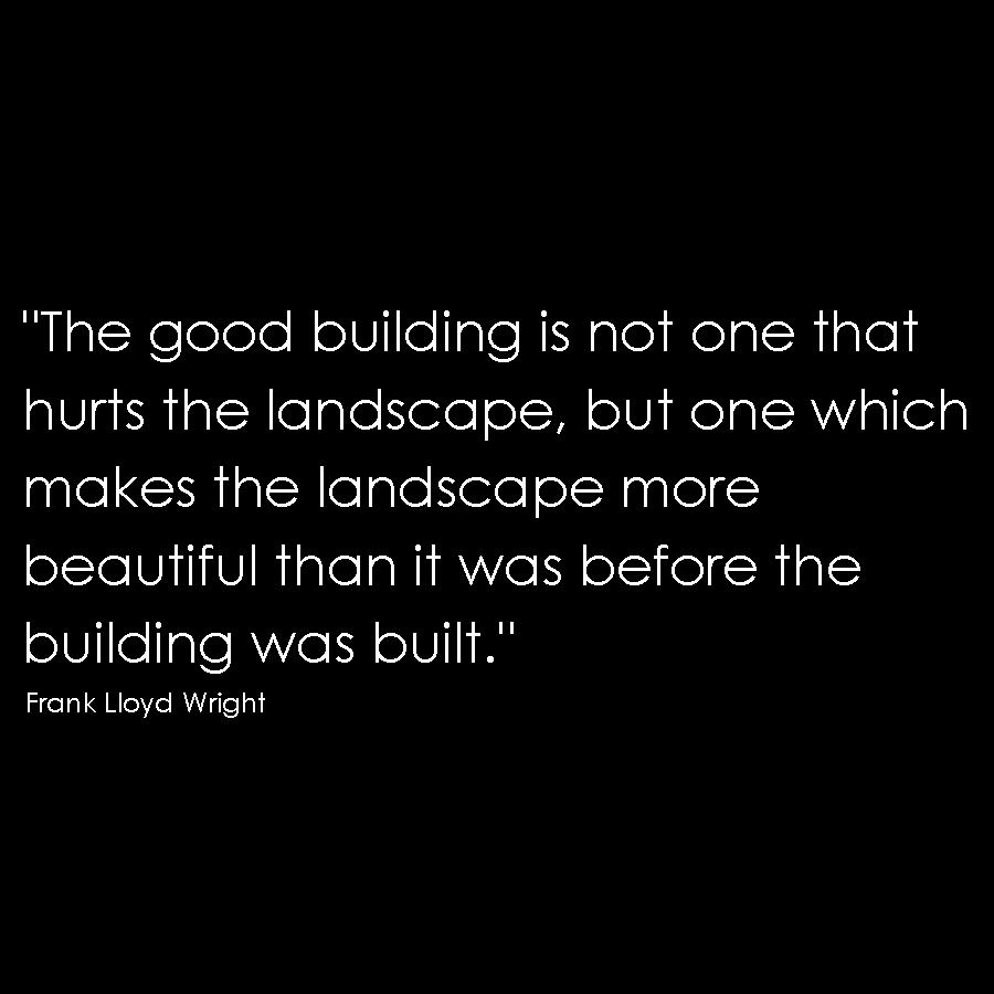 Frank lloyd wright quote minimalism simple honest architecture design
