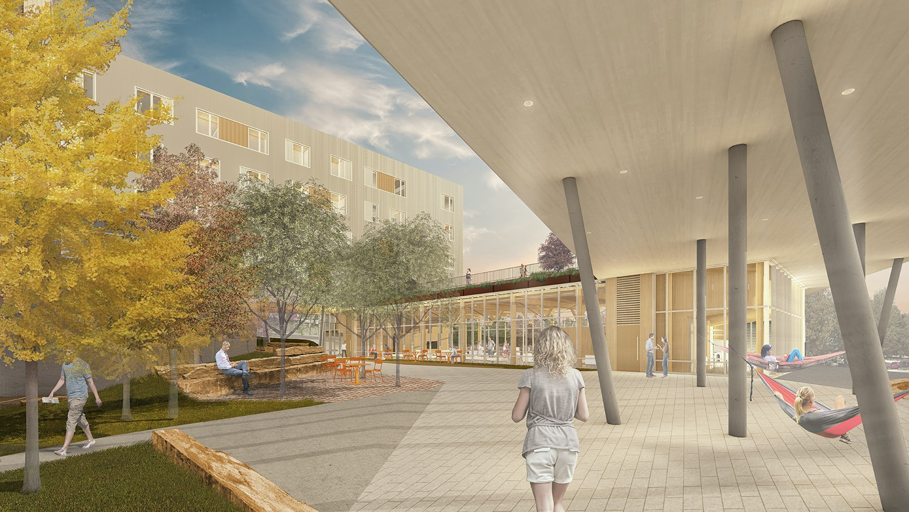 Uasdh rendering view of central plaza low res