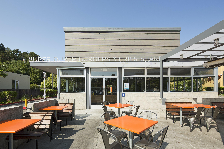 Builtform construction superduper modern patio seating