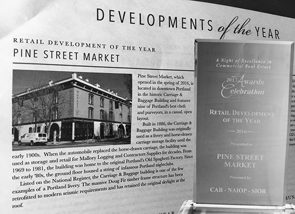 Pine street market retail development of the year