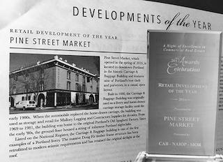 Pine street market retail development of the year