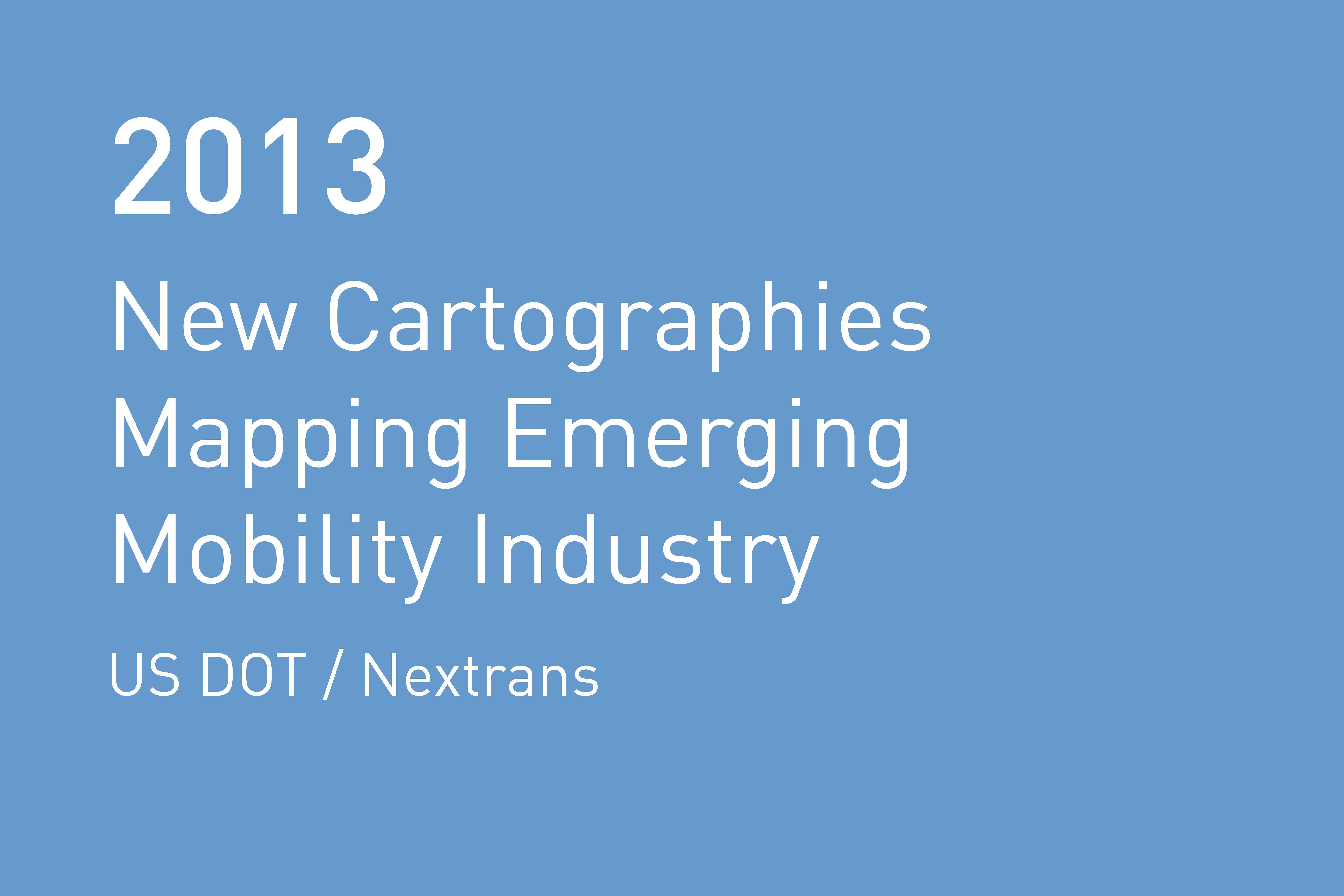 Rvtr 2013 usdot nextrans cartographies