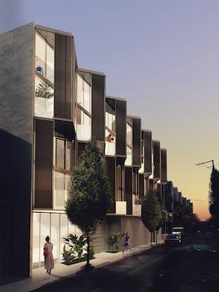 Dore st exterior facade night iso ideas soma san francisco