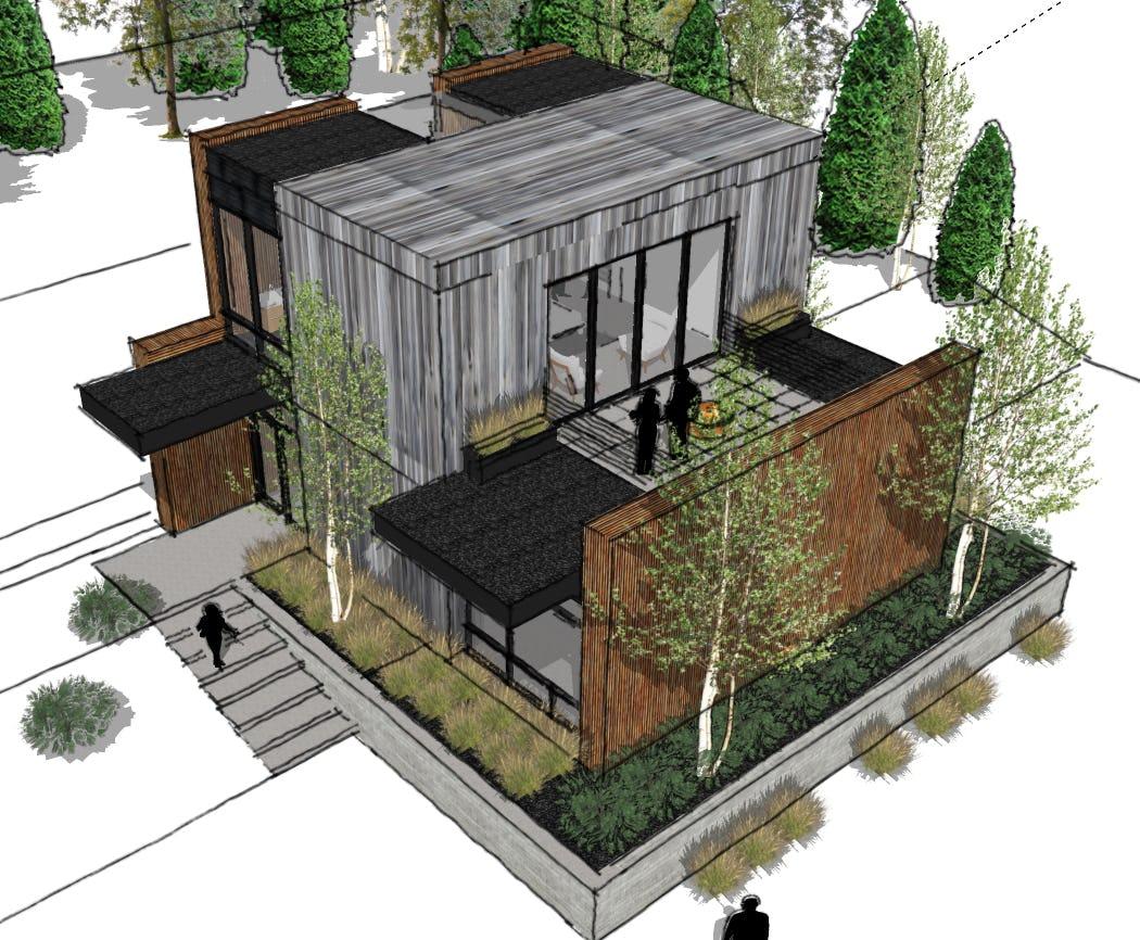 Minimalist cabin northern michigan architecture
