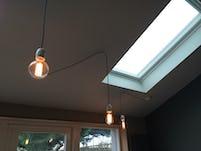 Dining bulbs rooflight 1