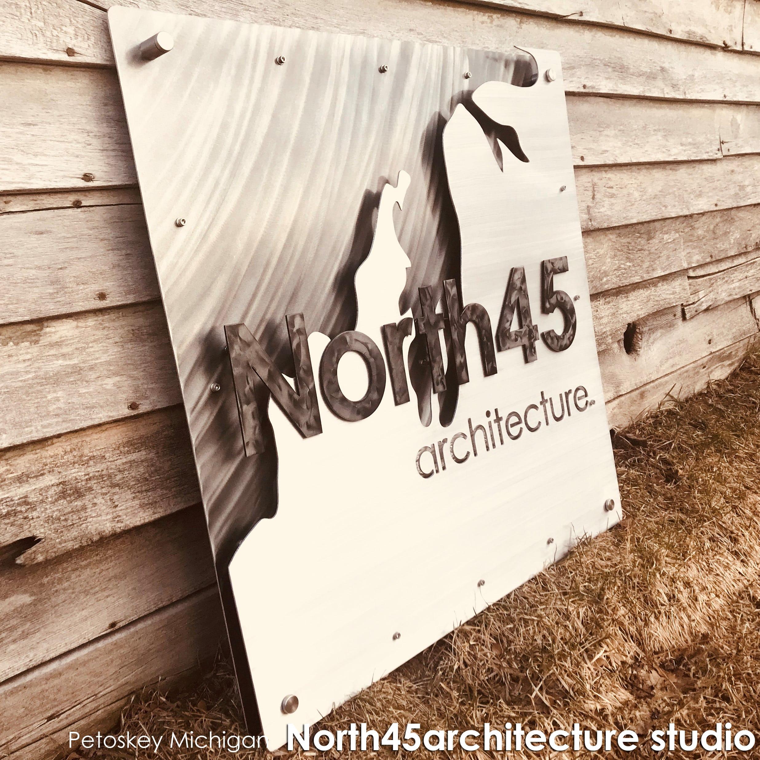 North45 architecture studio signage modern