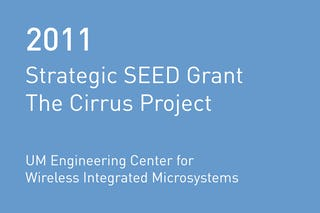 Rvtr 2011 strategic seed grant