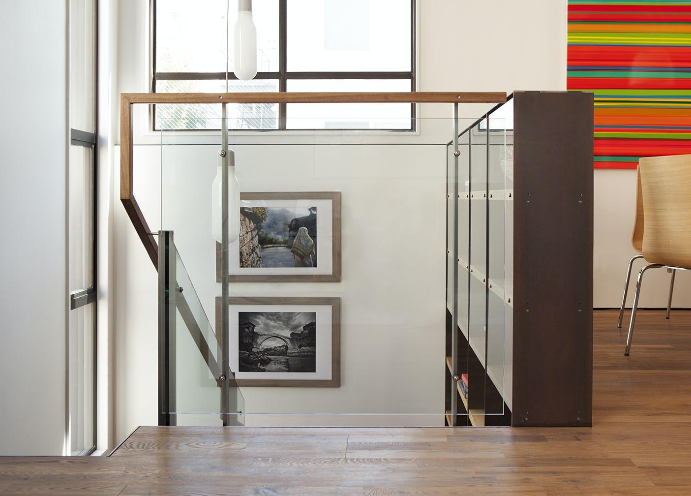 Builtform construction  steelhouse1 2 stairs wood glass detail modern
