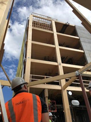 Modus studio adohi hall mass timber construction 07