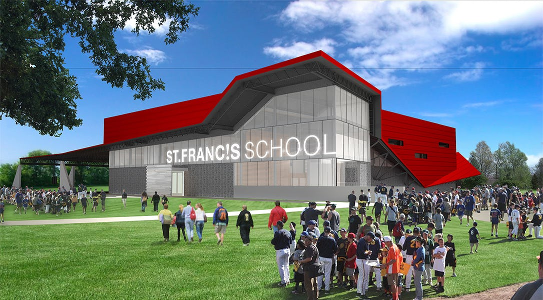 Fer st francis st francis school gymnasium renderings  exteriorlobby3