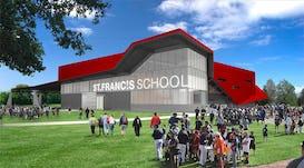 Fer st francis st francis school gymnasium renderings  exteriorlobby3