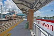 West haven  ct  train station mta photo