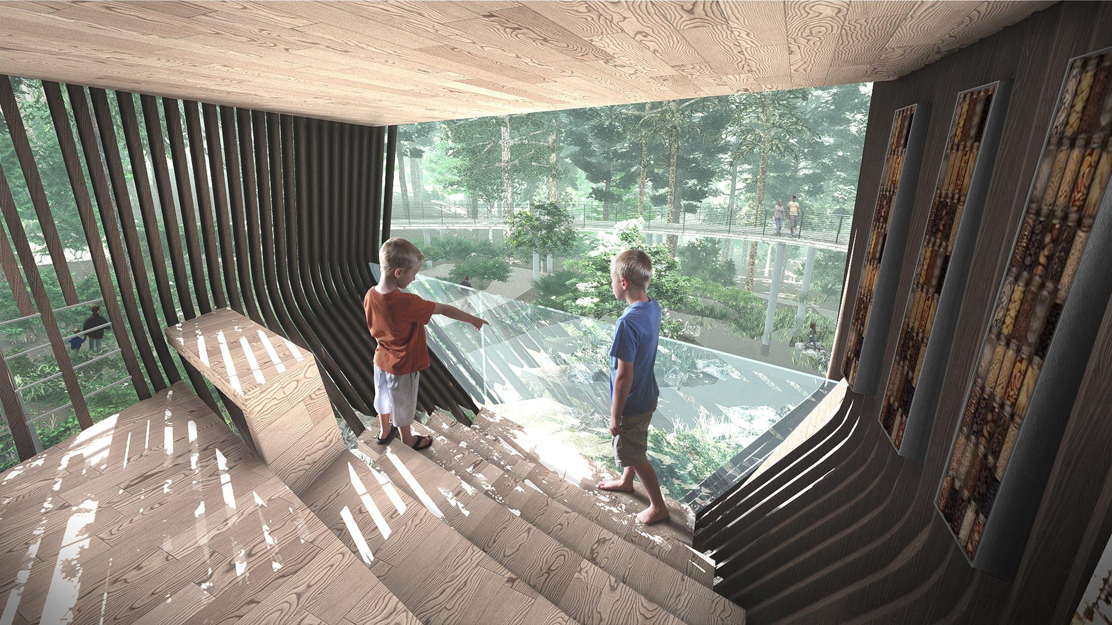 Treehouse interior rendering 02