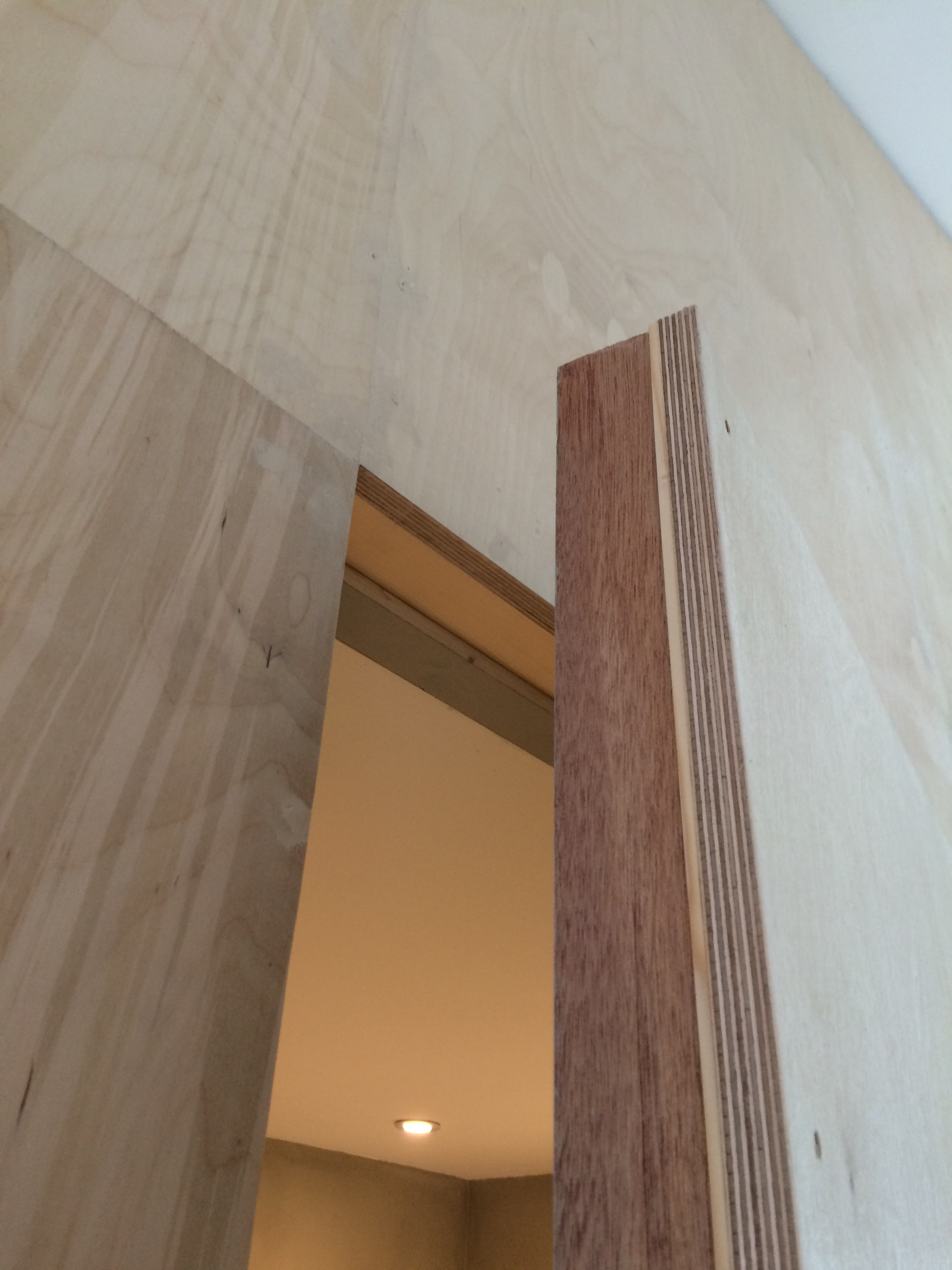 Ply door edge