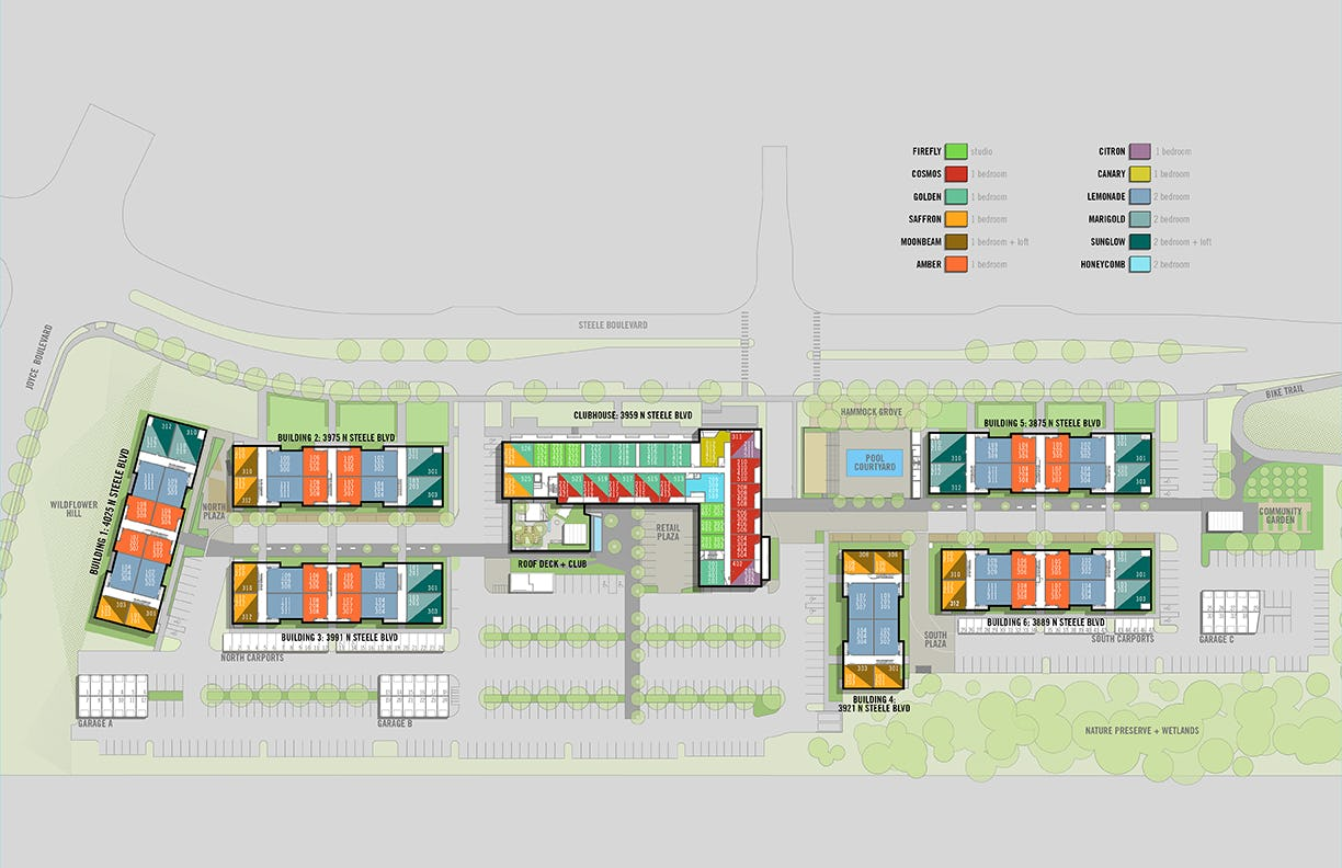 Uptown site plan unit leasing lo res