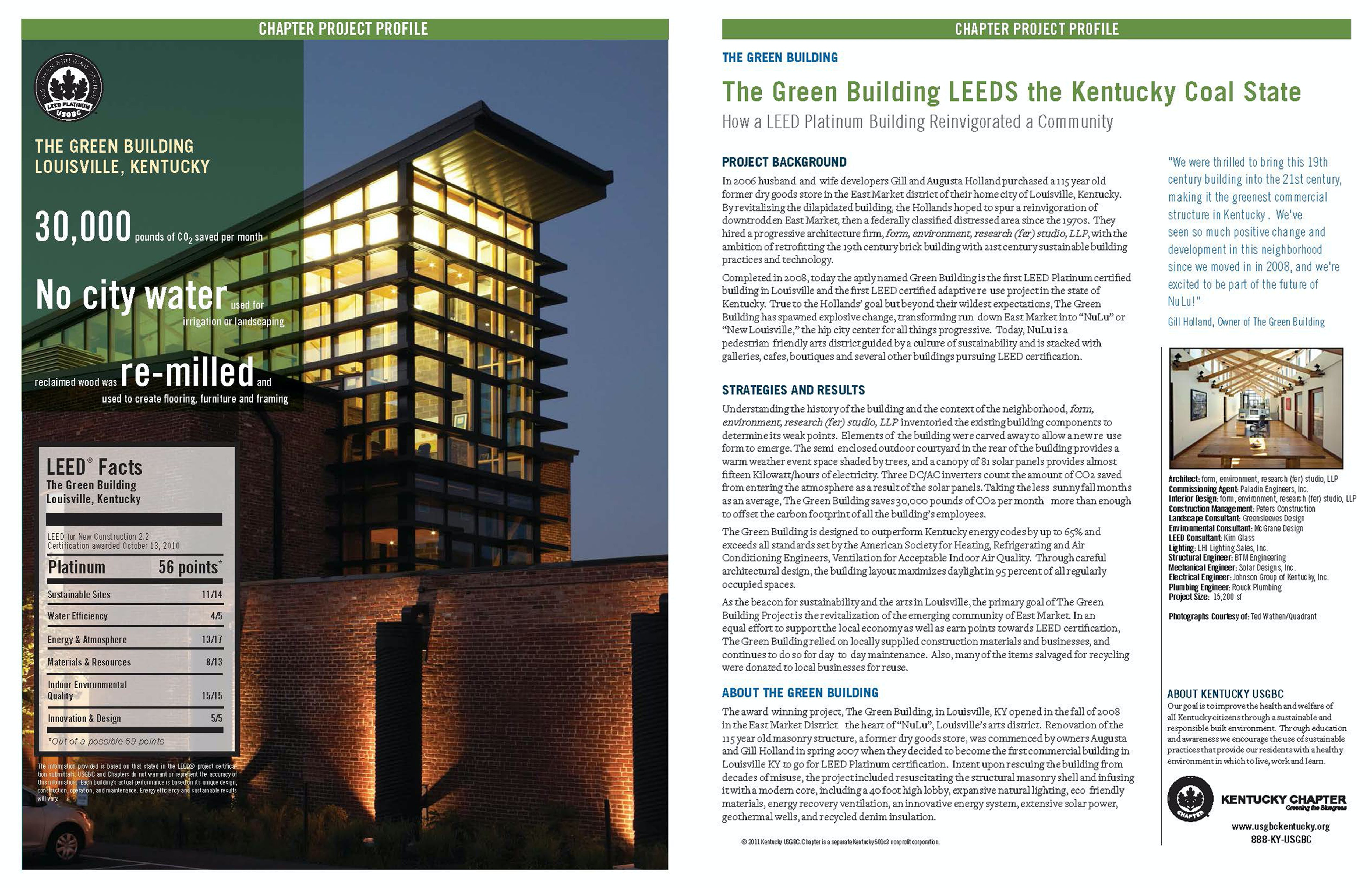 The green building leeds the kentucky coal state