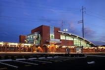 West haven station exterior dusk 2