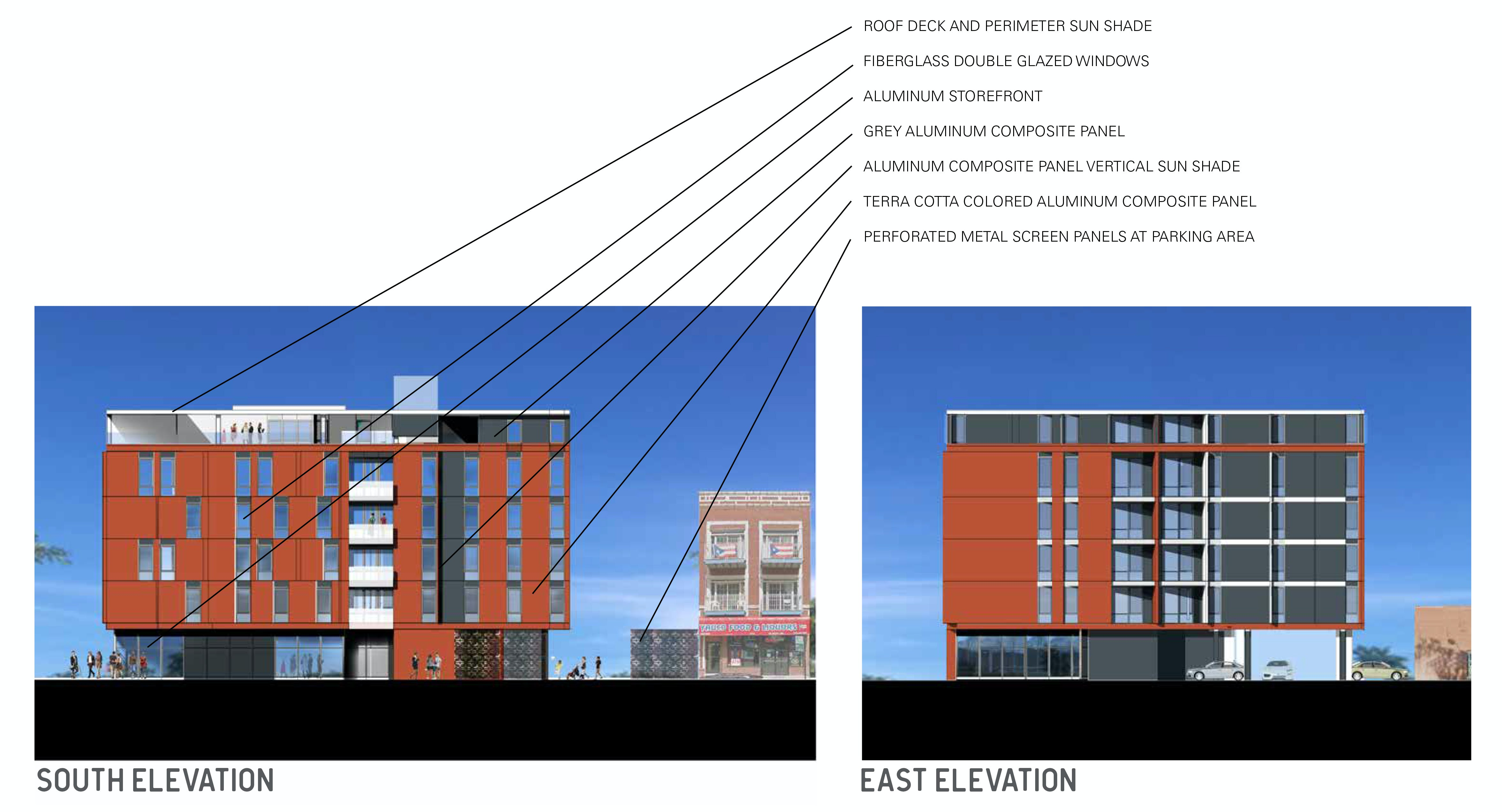 South east elevations