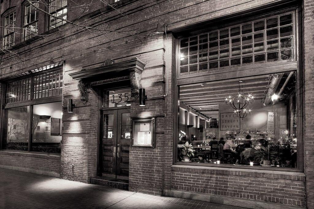Davis street tavern sepia