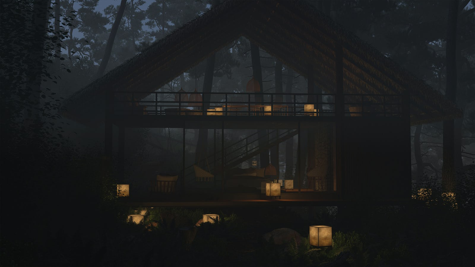 Forest chalet 04